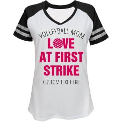 Love At First Strike Volleyball Mom