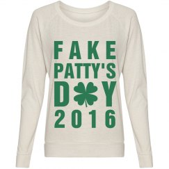 Fake Patty's Day Shamrock 2016