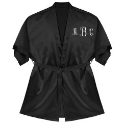 Custom Monogrammed Silk Robe