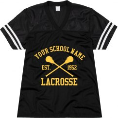 Custom School Lacrosse Fan Jersey