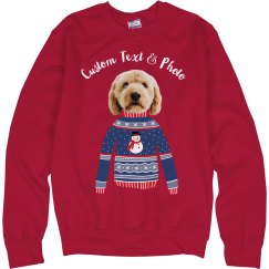 Funny Pet Photo Christmas Sweater