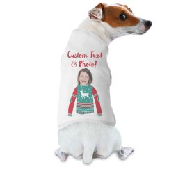 Matching Pet and Owner Funny Xmas Sweater Photo