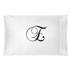 Ornate Script Custom Monogram E