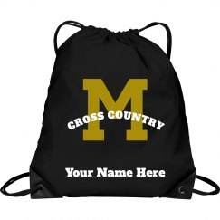 Cross Country Track Drawstring Backpack
