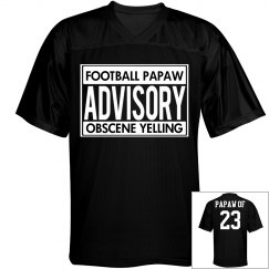 Funny Football Grandpa Jersey With Custom Name Number