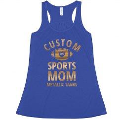 Custom Metallic Foil Sports Mom