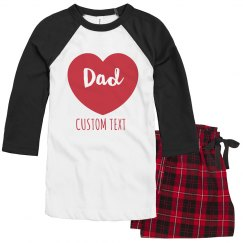 Matching Dad & Family Valentine's PJs