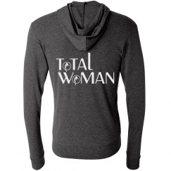 Total Woman Logo Hoodie - white on black