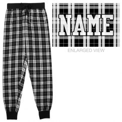 Custom Name Flannel Pajamas