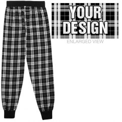 Custom Back Flannel Pajama Pants