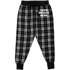 Custom Kids Flannel Pajamas