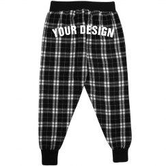Kid Custom Text Flannel Pajamas