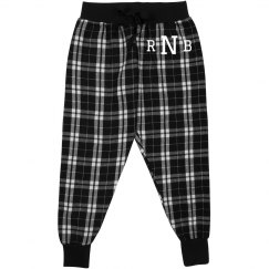 Custom Initials Kids Pajama Bottoms