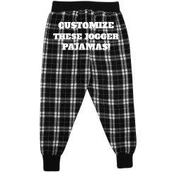 Custom Kids Flannel Jogger Jammies
