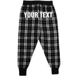 Kids Custom Text Flannel Pajamas