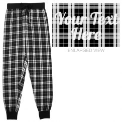 Custom Text Ladies Flannel Pajamas