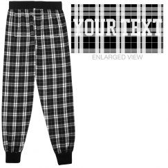 Custom Text Ladies Flannel PJ Pants