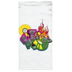 WHITE WILDSTYLE GATER  w/ 2 PLY FOLD-DOWN COTTON LINER