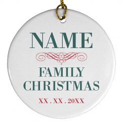 Customizable Family Christmas Decor