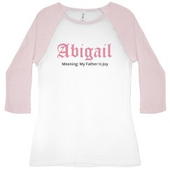 Abigail name shirt