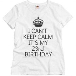 It's my 23rd birthday