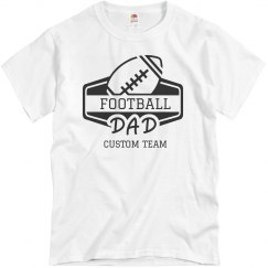 Football Dad Custom Sports Team Name Tee