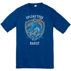 Mascot Logo Upload Custom Youth Performance Tee