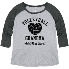 Custom Volleyball Grandma