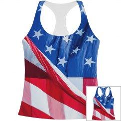 4th Of July American Flag Print