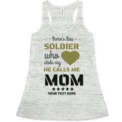 Cute Flowy Army Mom Custom Tank