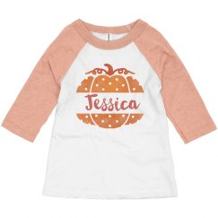 Polka-Dot Pumpkin Custom Toddler