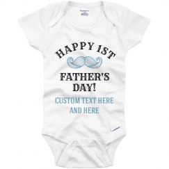 Custom First Father's Day Onesie