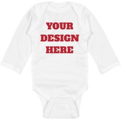 Custom Long Sleeve Baby Bodysuit
