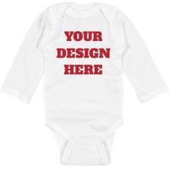 Custom Long Sleeve Baby Bodysuit