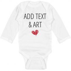 Personalized Long Sleeve Bodysuit