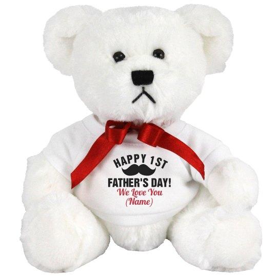 dd822a9f9460 Custom 1st Fathers Day Gift 7 Inch Teddy Bear Stuffed Animal