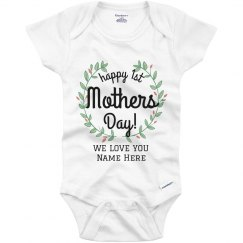 Floral 1st Mother's Day Onesie