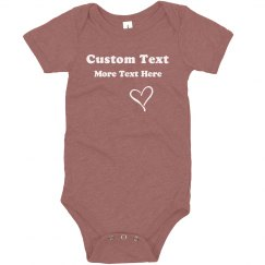 Custom Message Personalized Onesie