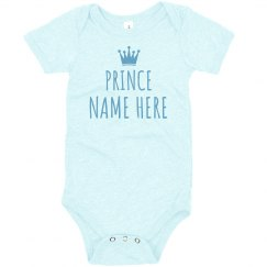 Little Prince Custom Name Baby Gift