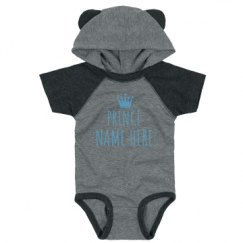 Infant Hooded Raglan Bodysuit with Ears