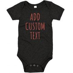 Add Custom Text & Art Baby Gift