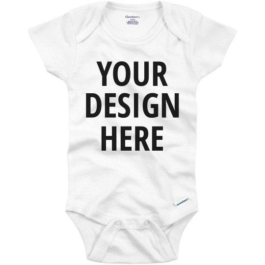 084fb9b8fb24 Custom Text Baby Onesie Infant Onesie