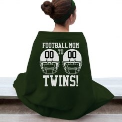 Warm Football Mom to Twins Blanket With Custom Text