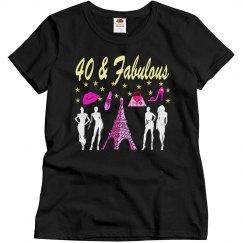 40TH BIRTHDAY PARIS DESIGN