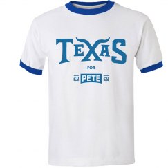 Texas for Pete - Royal Blue - Ringer-T