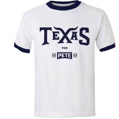 Texas for Pete - Navy - Ringer-T