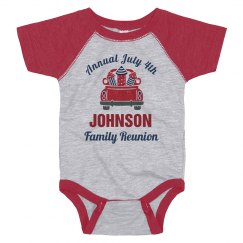 Annual July 4th Family Reunion Baby Bodysuit