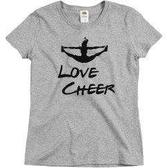 Love cheer jump tee