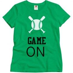 Womens Customized Baseball T-Shirt