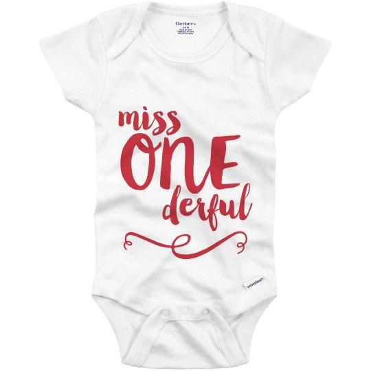 Little Miss One Derful Birthday Infant Onesie